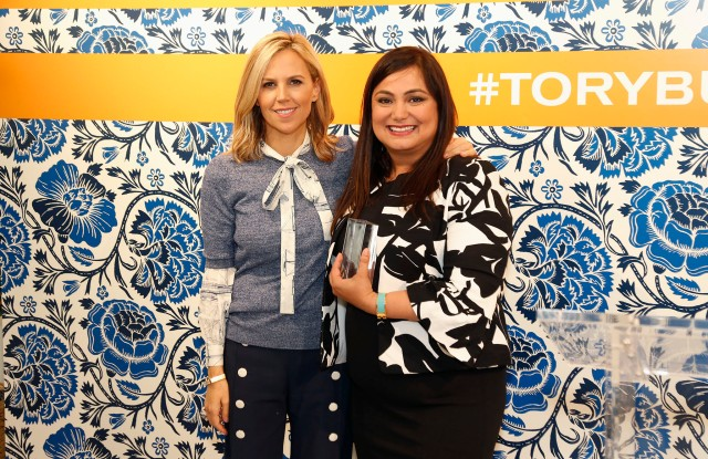 Tory Burch with Dr. Brite's Paris Sabo.