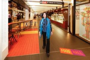 Susan Fine walks Turnstyle.