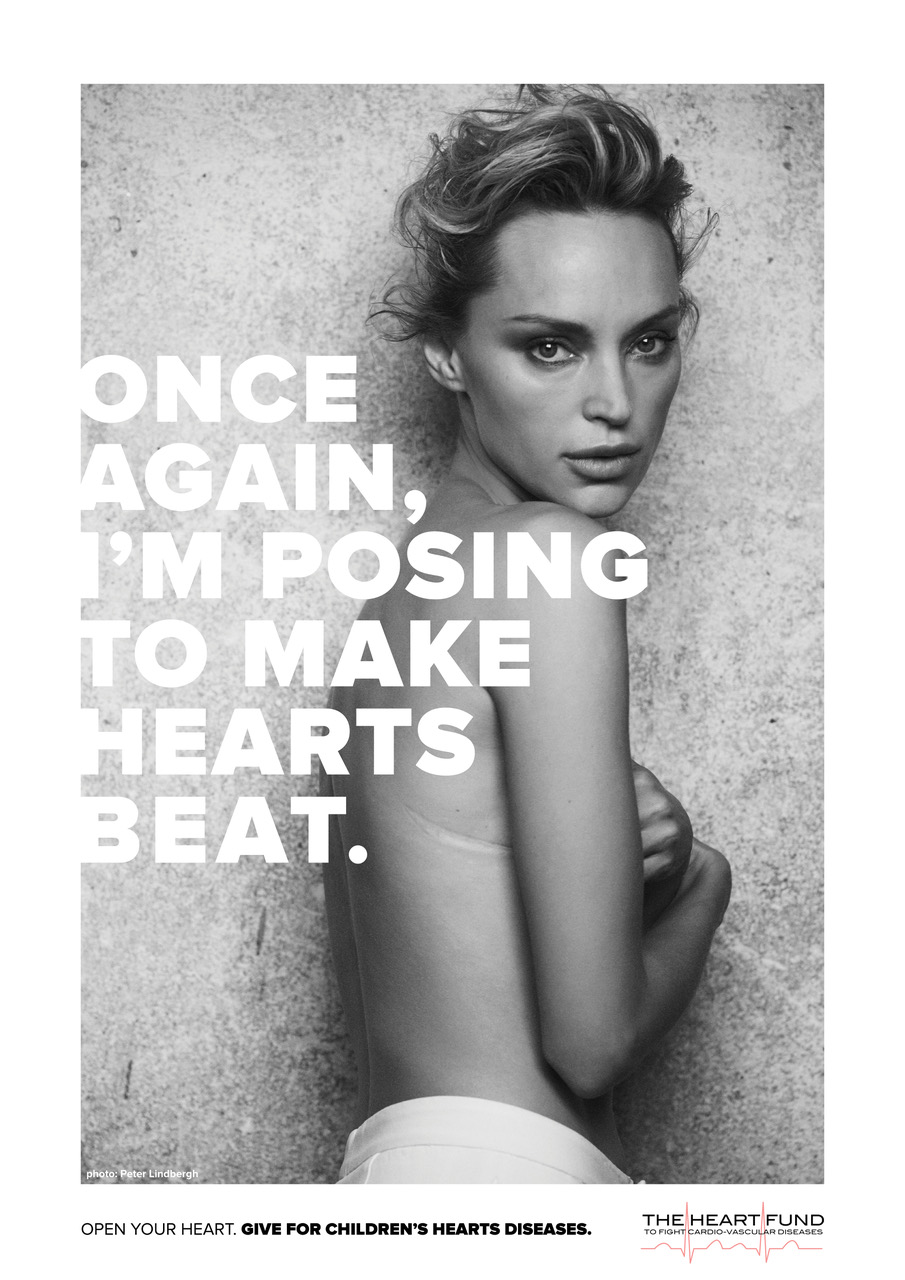 Inna Zabova in The Heart Fund's new awareness campaign.
