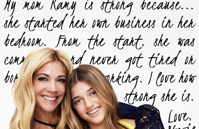 Ramy Brook and her daughter, Stevie, in Mother's Day ad.