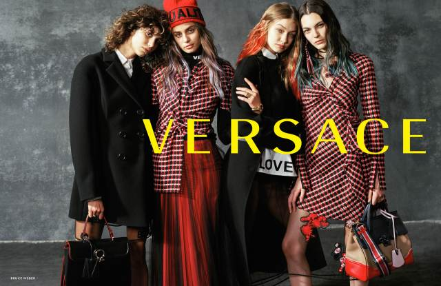 Versace fall 2017 advertising campaign