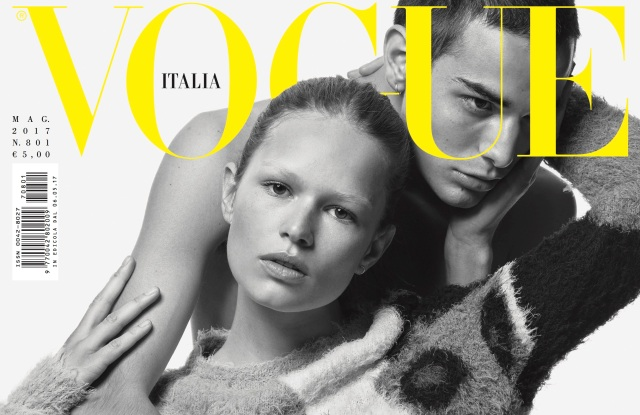 Vogue Italia's May issue cover