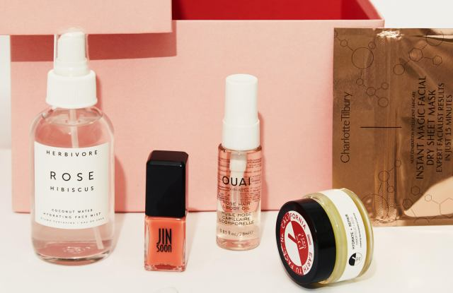 The limited edition Birchbox x Vogue 125 box.
