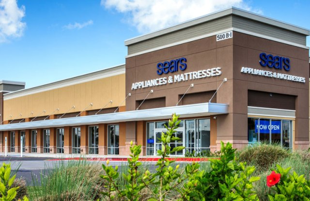 The new Sears store, dedicated to appliances and mattresses.
