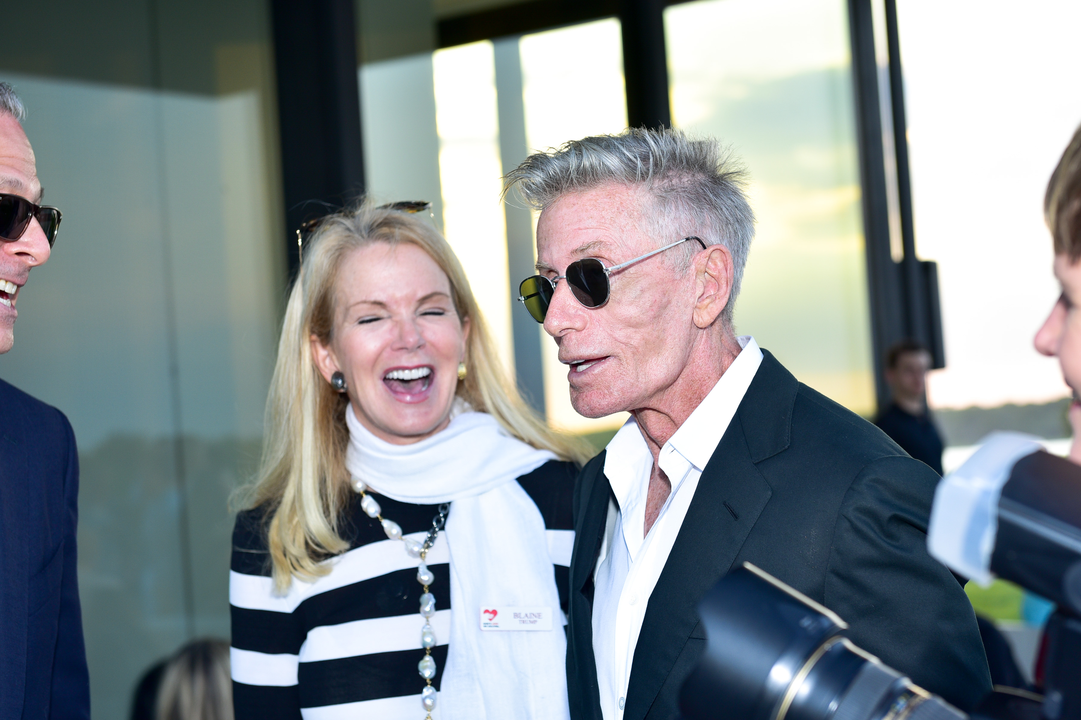 Blaine Trump, Calvin Klein==The 17th Annual Midsummer Night Drinks Benefiting God's Love We Deliver==Private Residence, Southampton NY==June 10, 2017==©Patrick McMullan==Photo - Sean Zanni/PMC====