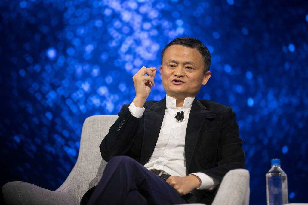 Alibaba founder and chairman, Jack Ma, at the company's Gateway conference in Detroit.