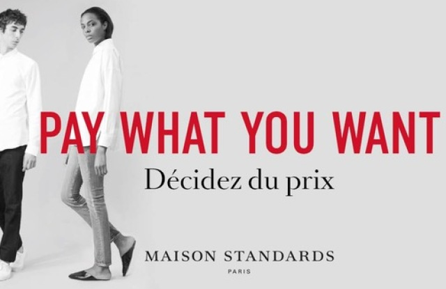 """Maison Standards' is innovating with """"pay what you want"""""""