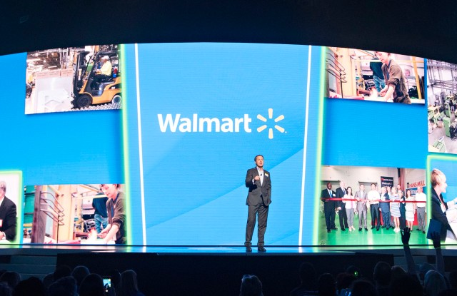 Wal-Mart chief executive officer Doug McMillon at the retailer's annual general meeting.