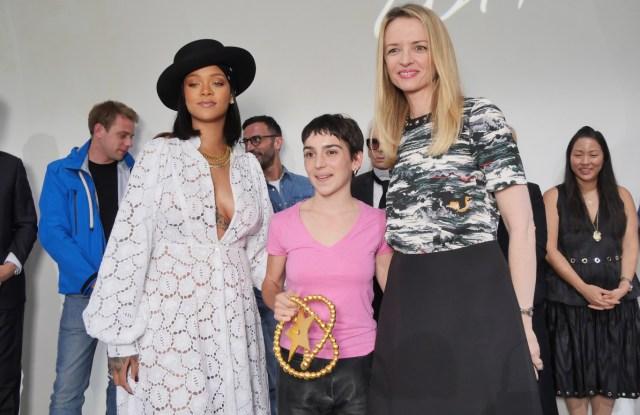 Marine Serre with Rihanna and Delphine Arnault