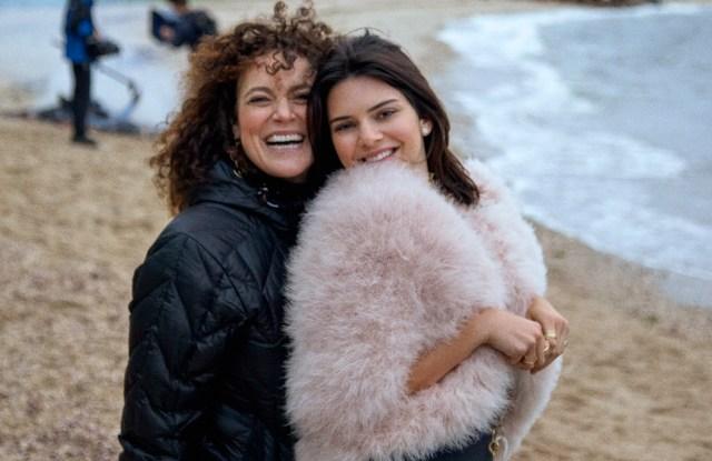 Ippolita Rostagno and Kendall Jenner on set