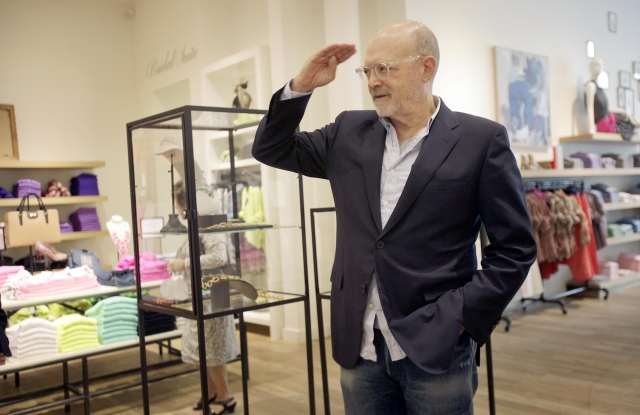 "Mickey Drexler This photo shows J. Crew CEO Millard ""Mickey"" Drexler greeting employees at a J. Crew store in New York. Under his leadership, J. Crew has carved out a place in the fashion hierarchy that's just between trendsetter and accessible, and Drexler seems to like living in that spaceFashion J. Crew Drexler, New York, USA"