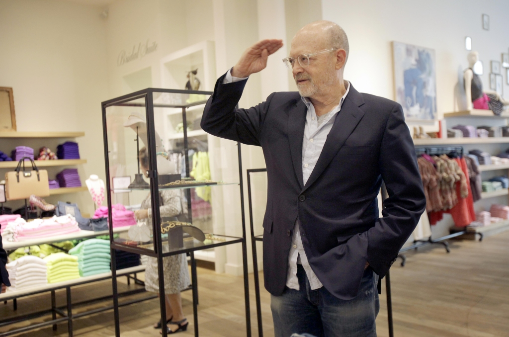 """Mickey Drexler This photo shows J. Crew CEO Millard """"Mickey"""" Drexler greeting employees at a J. Crew store in New York. Under his leadership, J. Crew has carved out a place in the fashion hierarchy that's just between trendsetter and accessible, and Drexler seems to like living in that spaceFashion J. Crew Drexler, New York, USA"""