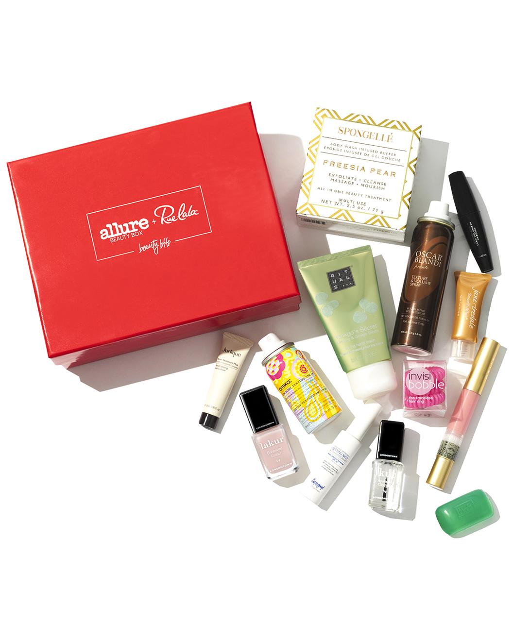 Beauty box from Rue La La/Allure