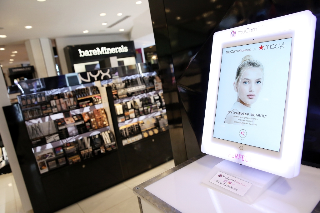 NEW YORK, NY - JUNE 07: Perfect Corp. & Macy's Launch the Ultimate In-Store Virtual Beauty Retail Experience t Macy's Herald Square on June 7, 2017 in New York City. (Photo by Monica Schipper/Getty Images)