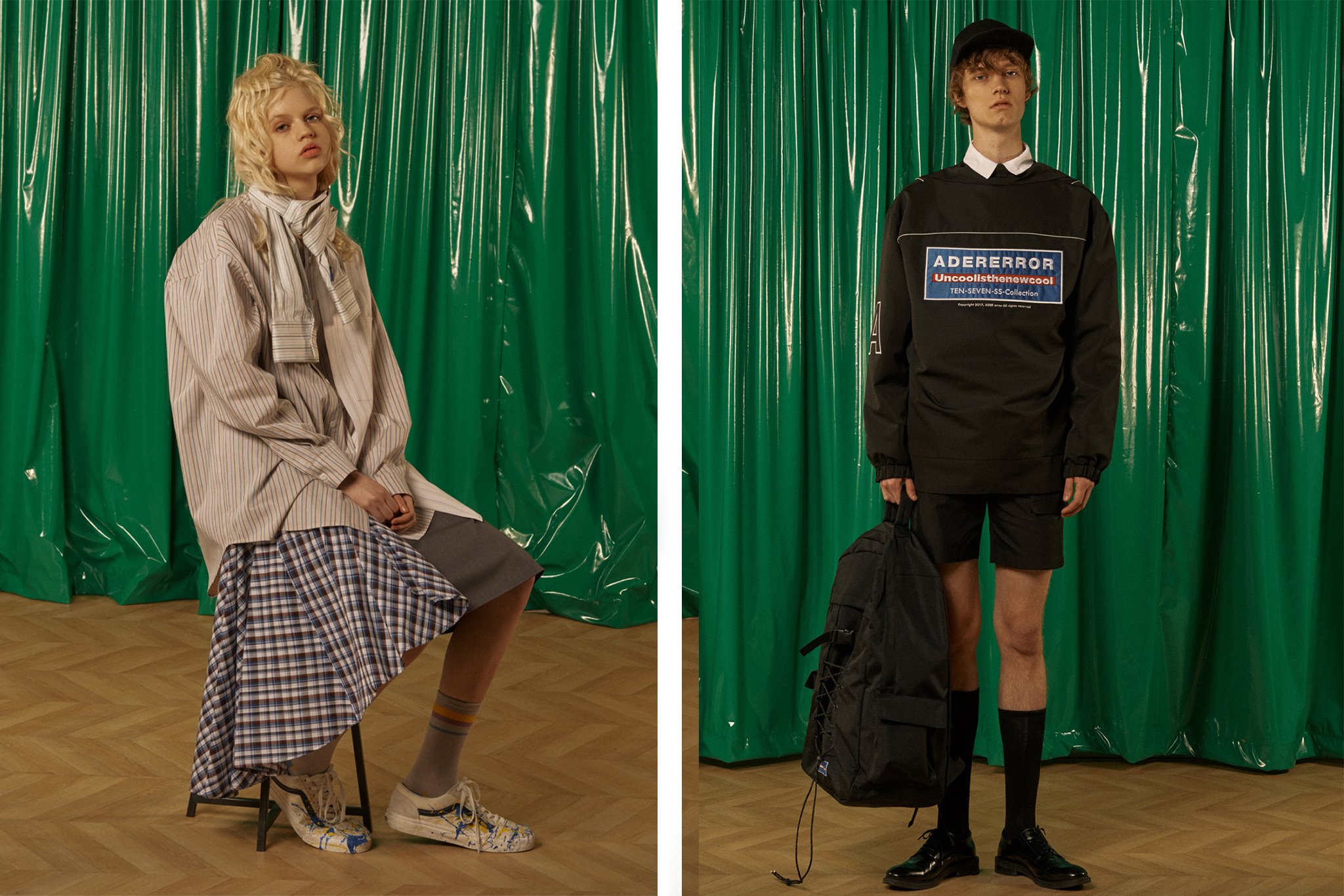 Unisex looks by Seoul-based brand Ader Error