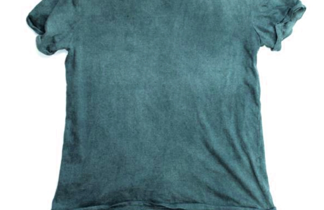 A new T-shirt is designed to change colors based on the pH level of water that it comes in contact with.