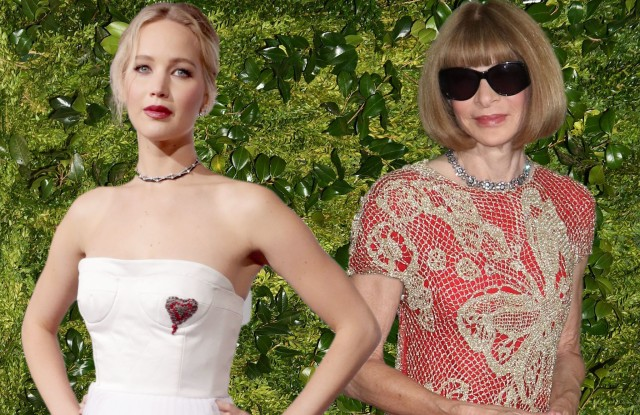 Jennifer Lawrence and Anna Wintour