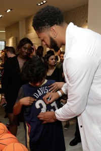 Anthony Davis greets his fans.