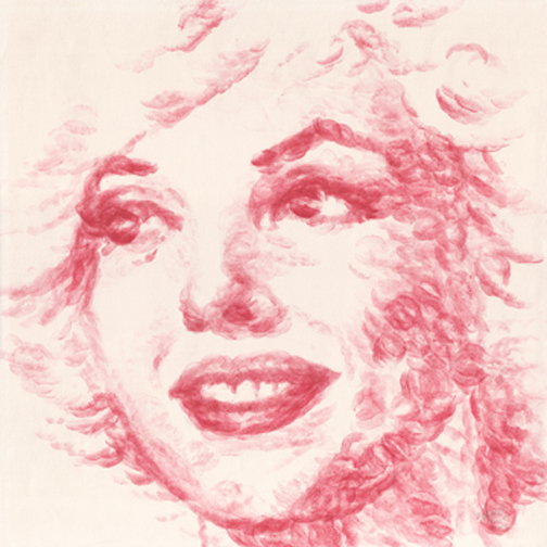 Marilyn Monroe's portrait by Natalie Irish.