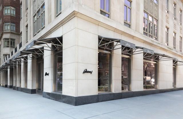 The Brioni flagship on Madison Avenue.