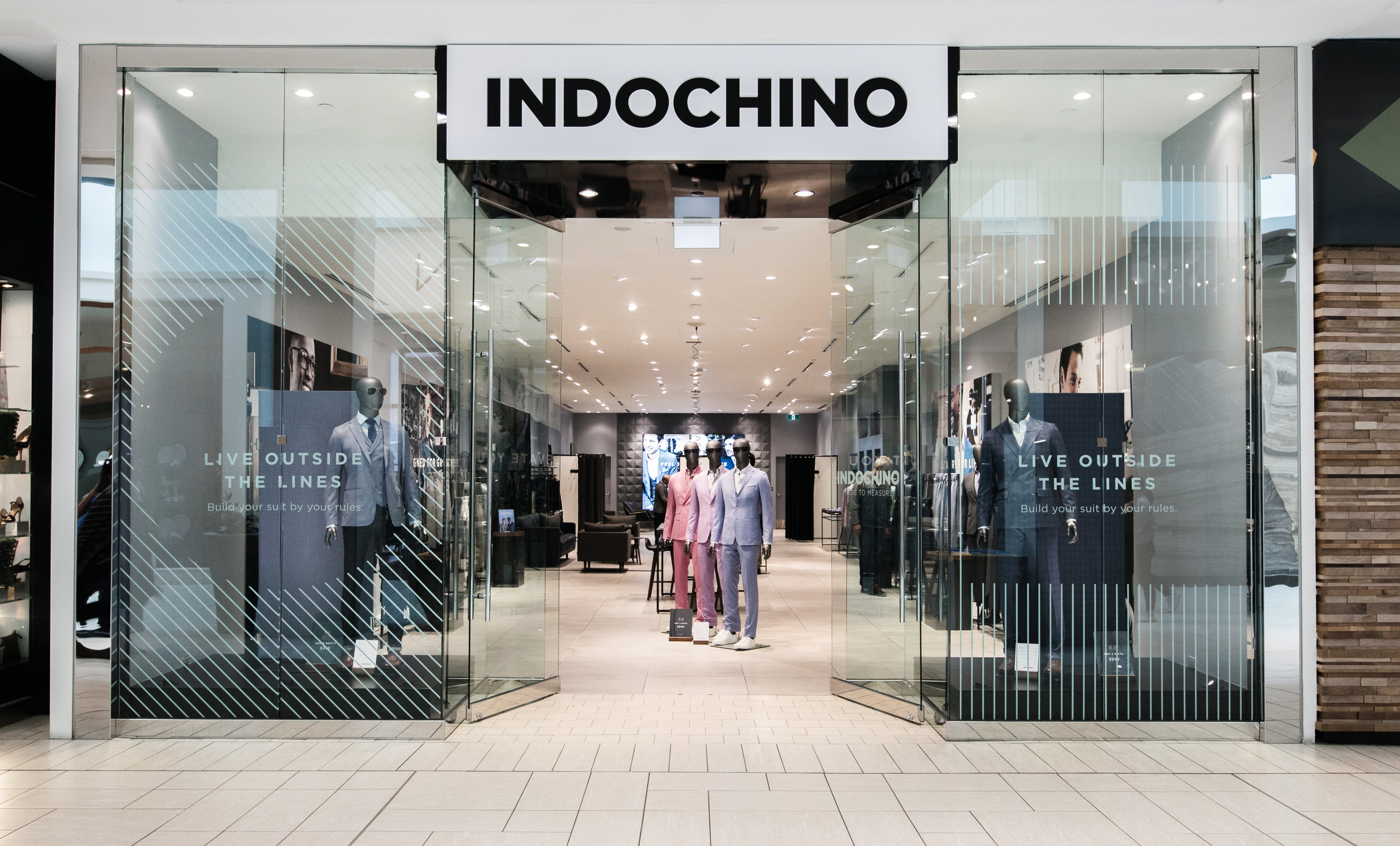 The Indochino showroom in Calgary, Canada.