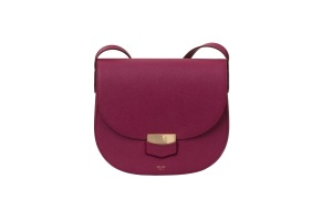 The Trotteur in Plum Grained Calfskin Céline bag exclusive to Maxfield.