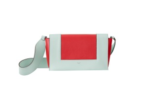 The Medium Frame in Jade & Bright Red Shiny Smooth Calfskinbag exclusive to Maxfield.