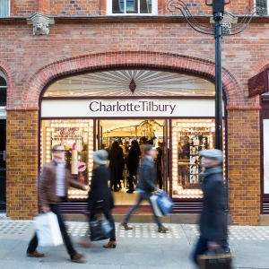 The Charlotte Tilbury store in Covent Garden