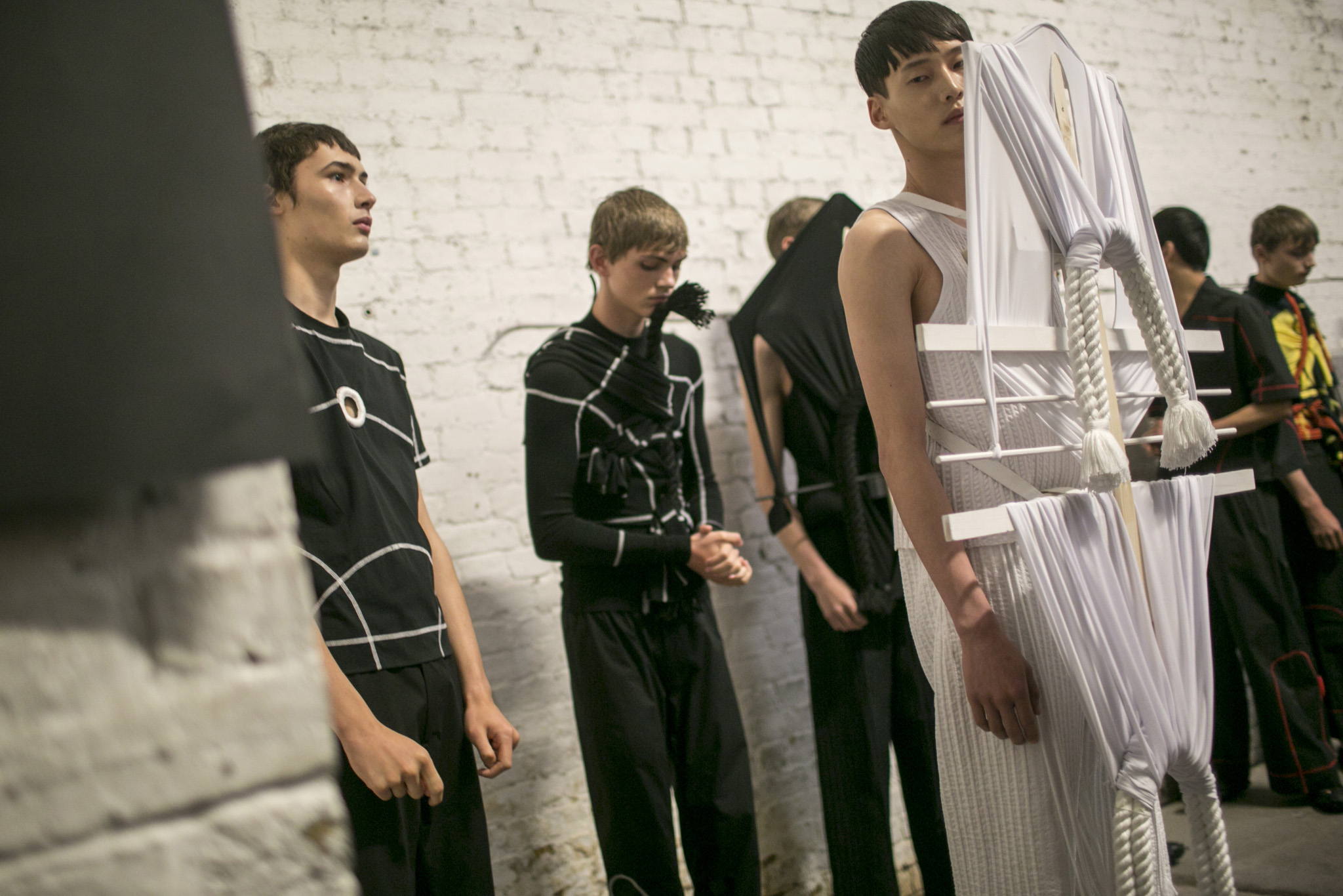 Backstage at Craig Green Men's Spring 2018