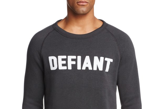 The Defiant sweatshirt.