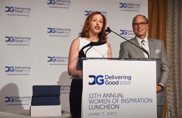 Lisa Gurwitch, president and ceo of Delivering Good, and Allan Ellinger