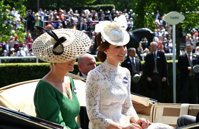 The Countess of Wessex and the Duchess of Cambridge (in Alexander McQueen) at Royal Ascot