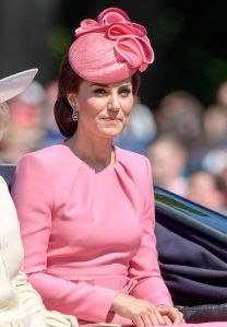 The Duchess of Cambridge (in Alexander McQueen) at Trooping the Colour Parade