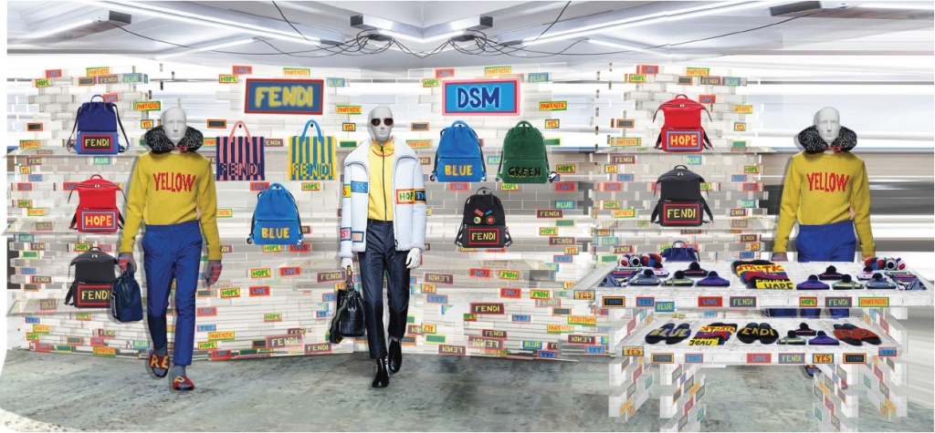 Fendi's Dover Street Market pop-up store