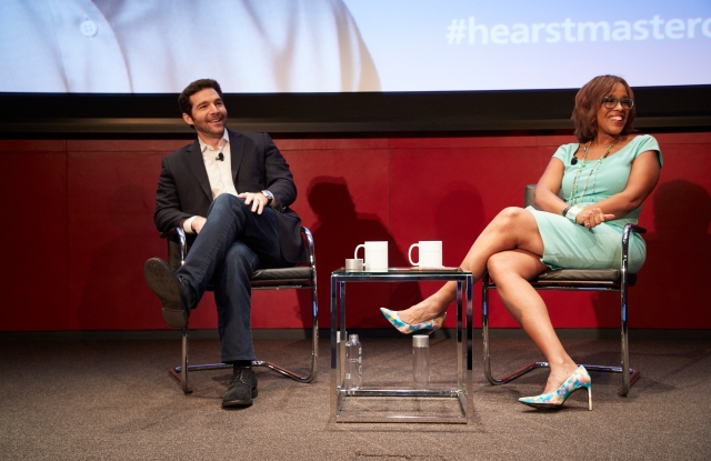 Gayle King and Jeff Weiner.