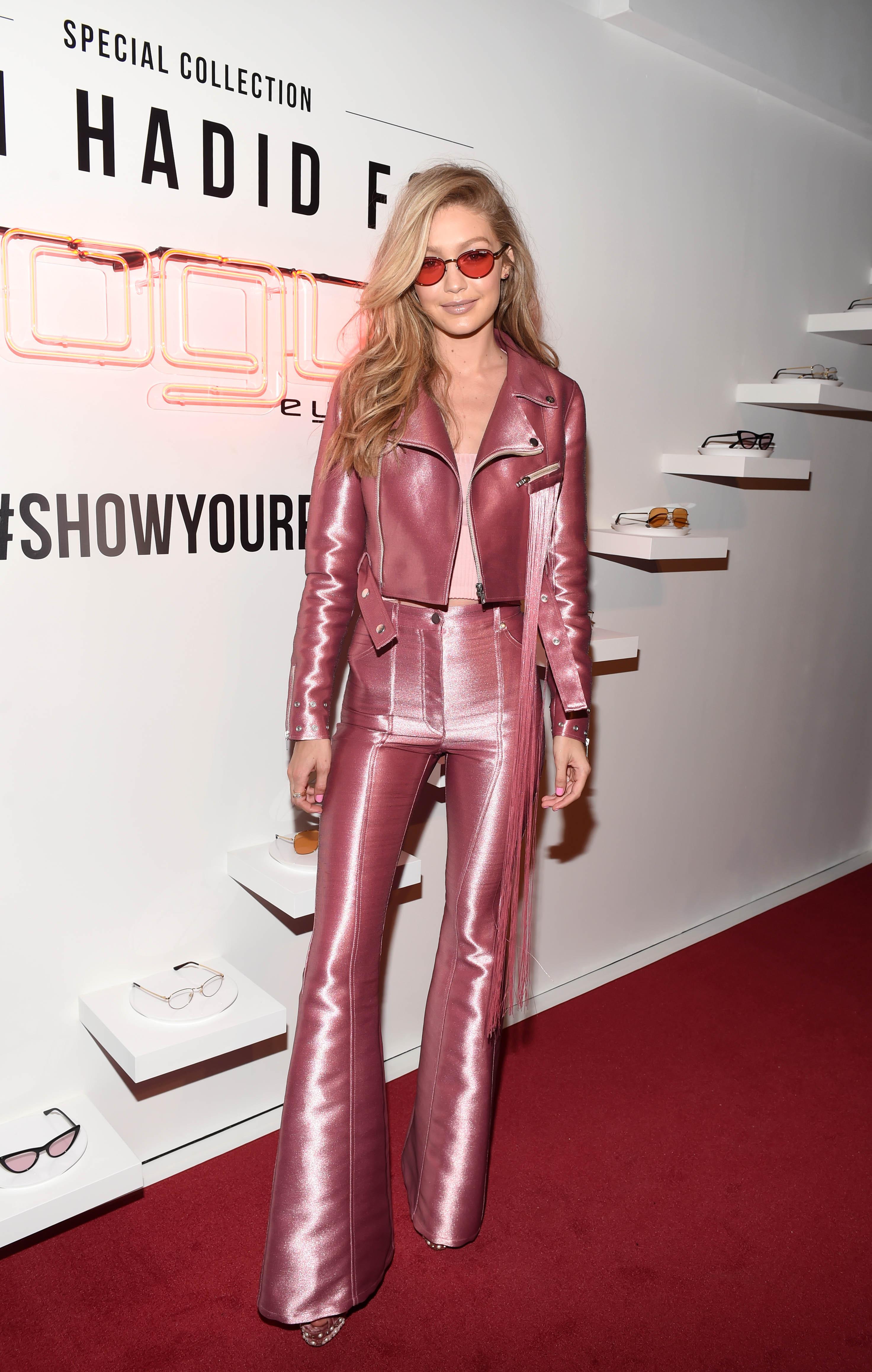Gigi HadidGigi Hadid for Vogue Eyewear Collection Launch Party, Arrivals, New York, USA - 27 Jun 2017WEARING KREIST