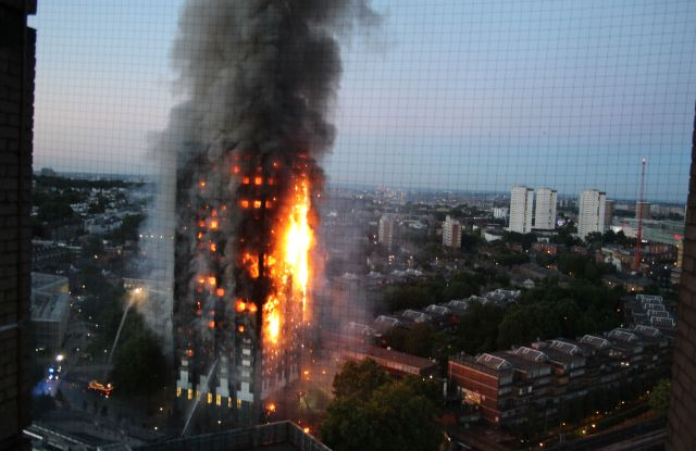 The Grenfell Tower fire in London.