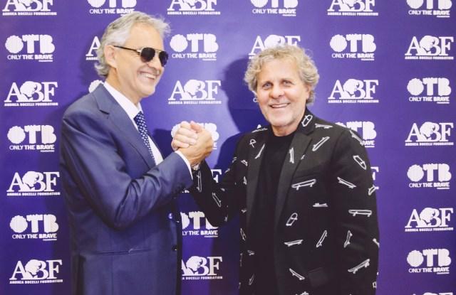 Andrea Bocelli and Renzo Rosso.