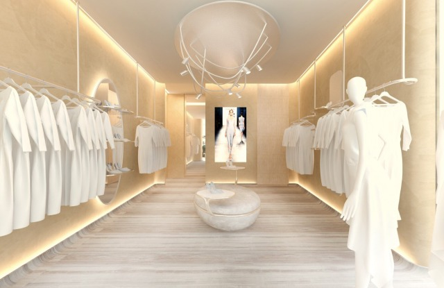 A rendering of the new Chiara Boni La Petit Robe store in Los Angeles.