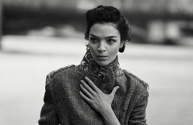 An image from the fall ad campaign by Peter Lindbergh for Ermanno Scervino.