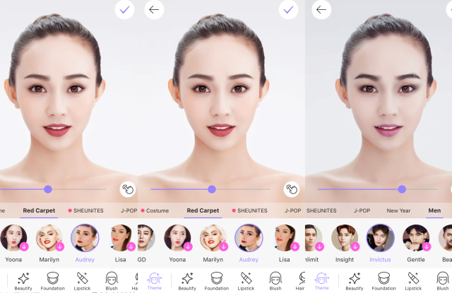 MakeUp Plus by Meitu provides celebrity-inspired digital looks.