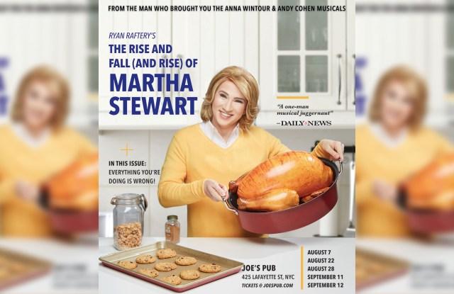 Ryan Raftery as Martha Stewart.