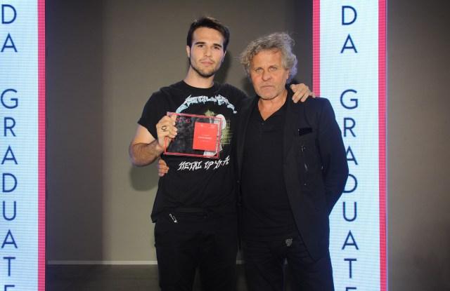 Renzo Rosso with Camera Nazionale della Moda Award winner Alberto Furlan