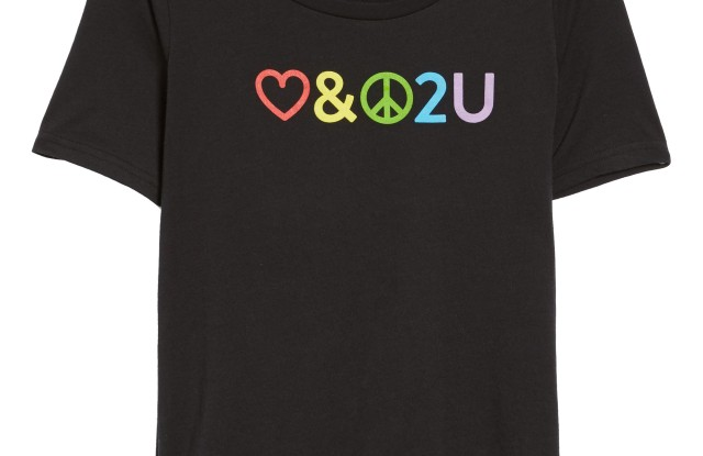 Net sales from Nordstrom's Pride T-shirt will benefit the Human Rights Campaign Foundation.