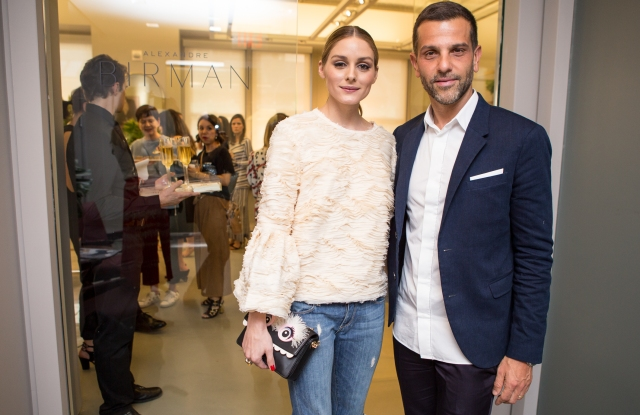 Alexandre Birman with Olivia Palermo at the event.