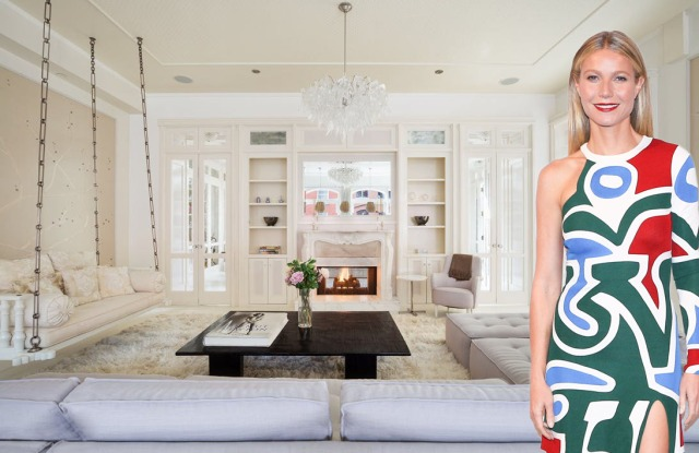 Gwyneth Paltrow's apartment featured a quirky sofa swing.