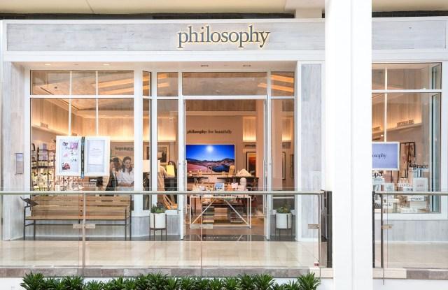 Philosophy's concept store at Westfield Garden State Plaza in Paramus, N.J.