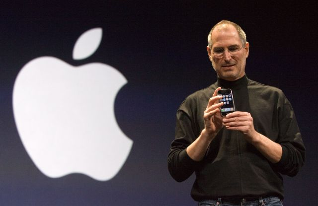 Apple Inc. ceo and cofounder Steve Jobs Apple iPhone Keynote Macworld Expo San Francisco California Tuesday 09 January 2007Usa Apple Steve Jobs - Jan 2007
