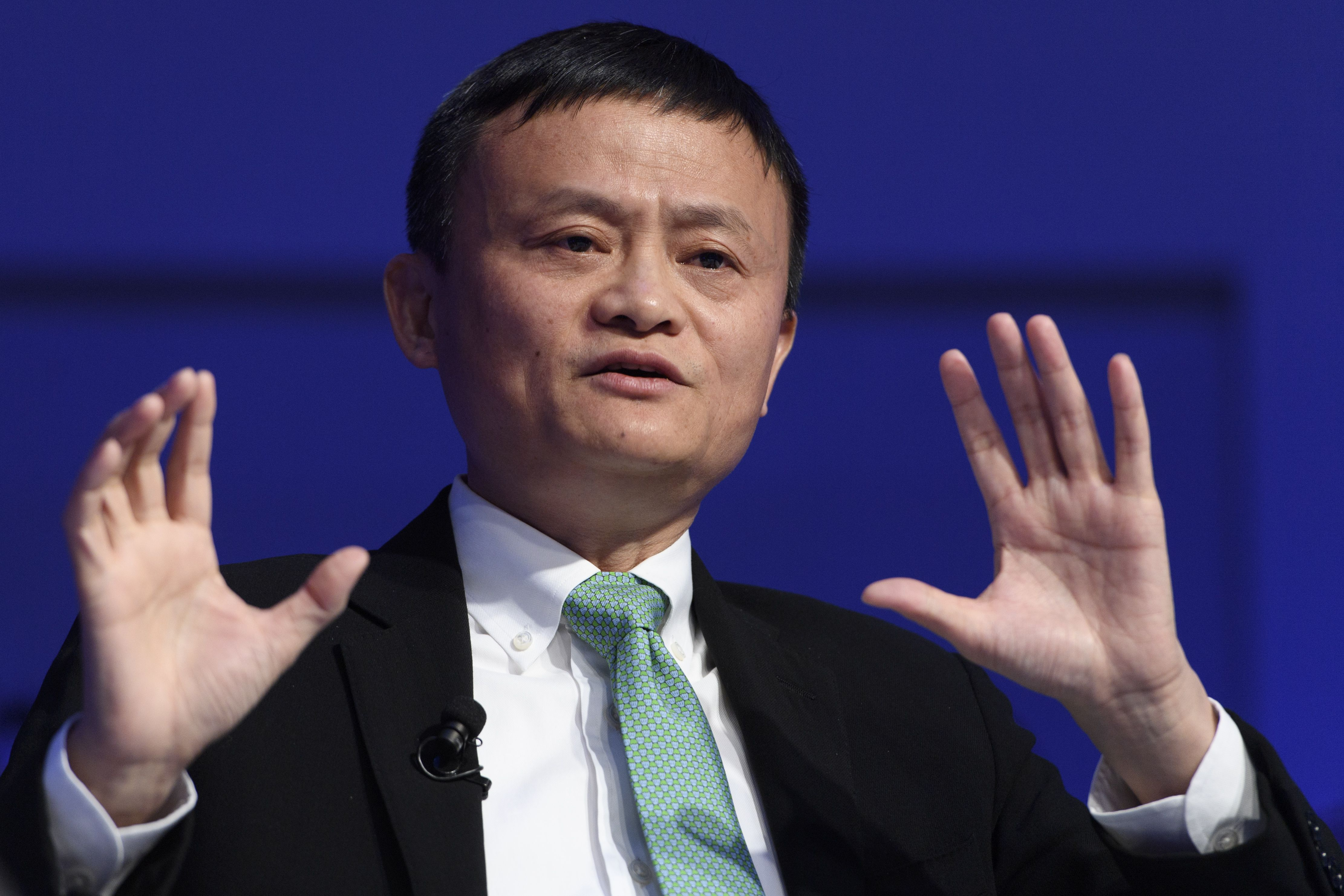 Jack MaWorld Economic Forum, WEF, in Davos, Switzerland - 18 Jan 2017China's Jack Ma, Founder and Executive Chairman of Alibaba Group speaks during a panel session during the 47th annual meeting of the World Economic Forum, WEF, in Davos, Switzerland, 18 January 2017. The meeting brings together enterpreneurs, scientists, chief executive and political leaders in Davos January 17 to 20.