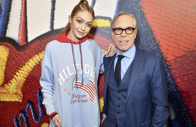 Gigi Hadid and Tommy HilfigerTommy x Gigi capsule collection, Tommy Hilfiger store, Autumn Winter 2017, Paris Fashion Week, France - 28 Feb 2017